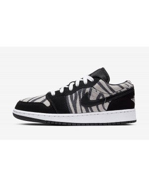 "Air Jordan 1 Low GS ""Zebra"" (Negras/Blancas/Sail) 553560-057"