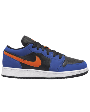 Air Jordan 1 Low GS (Negras/Azul/Naranjas) 553560-480