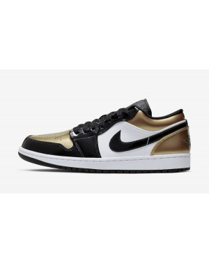 Air Jordan 1 Low (Negras/Oro/Blancas) CQ9447-700