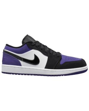 Air Jordan 1 Low (Blancas/Negras-Púrpura) 553558-125