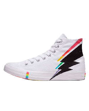 Converse All Star High Top Pride (Blancas/Negras/Rojas) 165715C