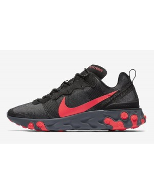 Nike React Element 55 (Negras/Rojas/Grises) BQ6166-002