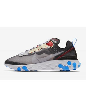Nike React Element 87 (Grises oscuro/Pure Platinum/Azul) AQ1090-003