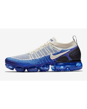 Nike Air VaporMax Flyknit 2 (Light Cream/Blancas/Azul) 942842-204