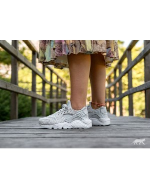 Nike Mujer Air Huarache Run PRM (Pure Platinum/Blancas) 683818-014