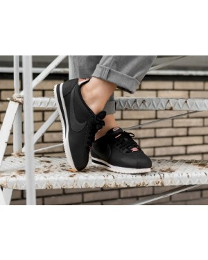 Nike Mujer Classic Cortez Leather (Negras/Anthracite/Metallic Red Bronze) AV4618-001