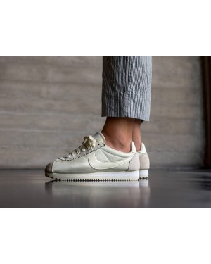 Nike Mujer Classic Cortez Nylon (Fossil/Fossil/Blancas) 749864-201