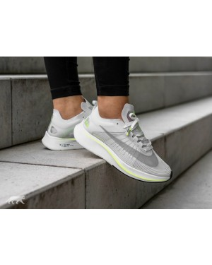 Nike Mujer Zoom Fly SP *Boston* (Blancas/Volt Glow/Blancas) AJ8229-107