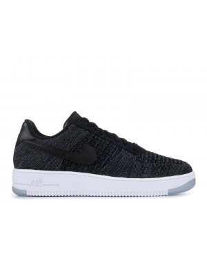 Nike Air Force 1 Ultra Flyknit Low (Negras/Grises oscuro/Blancas) 817419-004