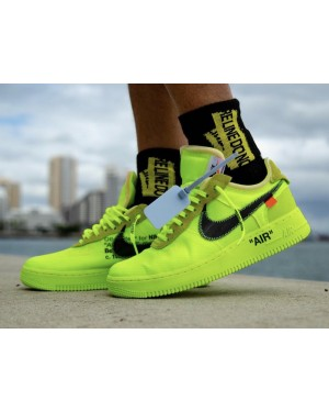 Off-White x Nike Air Force 1 Low (Volt/Negras-Volt-Cone) AO4606-700