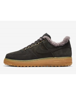 Nike Air Force 1 Premium Winter (Negras/Azul-Gum Marrones claro) BV0131-001