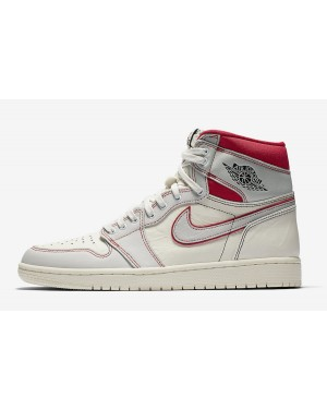 Air Jordan 1 Retro High OG (Sail/Negras/Phantom/Rojas) 555088-160