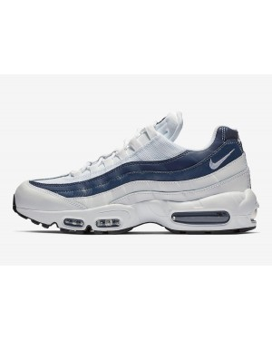 Nike Air Max 95 Essential (Blancas/Navy-Azul) 749766-114