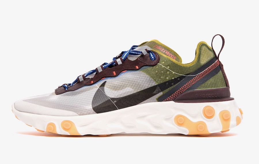 Nike React Element 87 (Moss/Negras/Azul) AQ1090-300