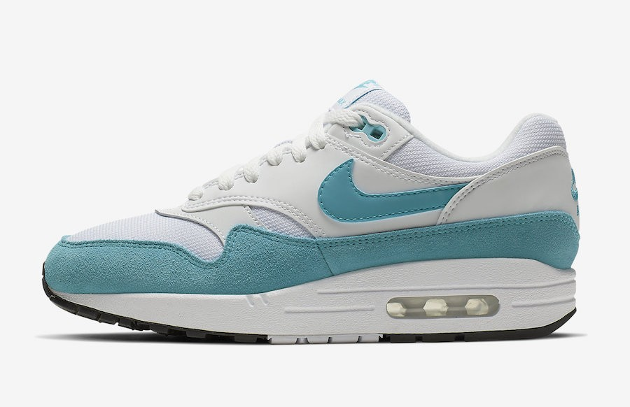 Nike Mujer Air Max 1 (Blancas/Turquoise) 319986-117