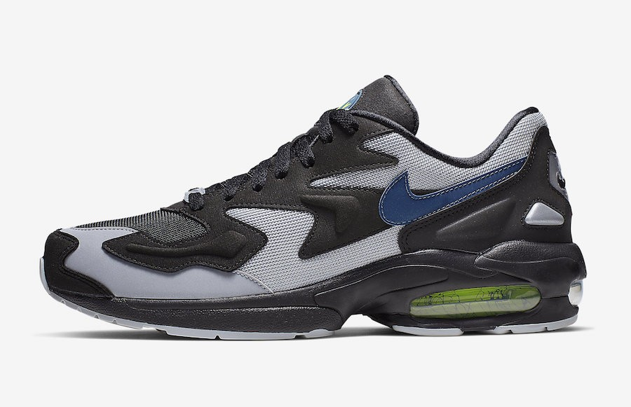 Nike Air Max2 Light (Negras/Thunderstorm/Grises) AO1741-002