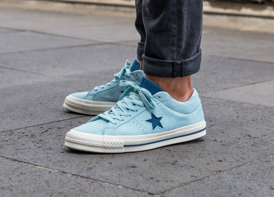 Converse One Star Ox (Ocean Bliss/Navy/Egret) 160585C