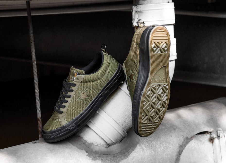 Converse x Carhartt One Star Ox (Herbal/Olive/Negras) 162820C