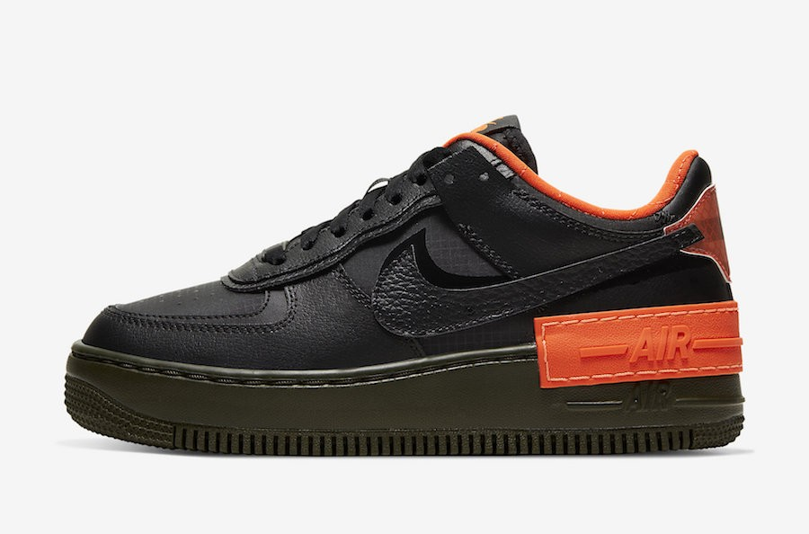 Nike Air Force 1 Shadow (Negras/Naranjas) CQ3317-001