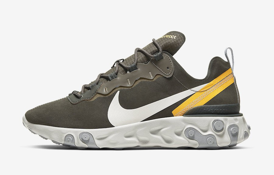 Nike React Element 55 (Sequoia/Light Bone/Oro) CQ6366-300