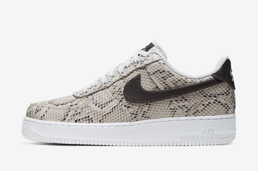 "Nike Air Force 1 Low ""Snakeskin"" (Marrones/Negras) BQ4424-100"