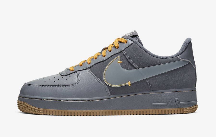 Nike Air Force 1 Low (Grises/Pure Platinum/Grises oscuro) CQ6367-001
