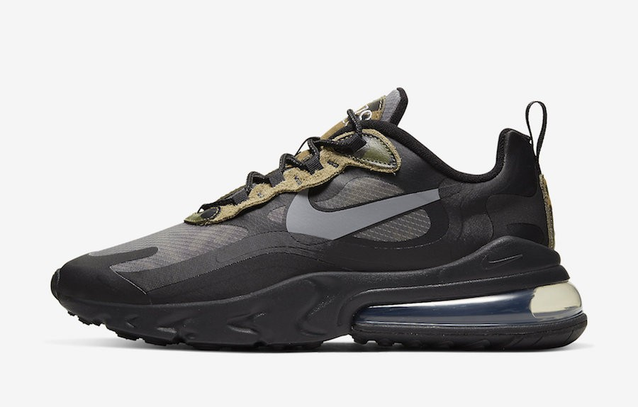 Nike Air Max 270 React (Negras/Grises) CT5528-001