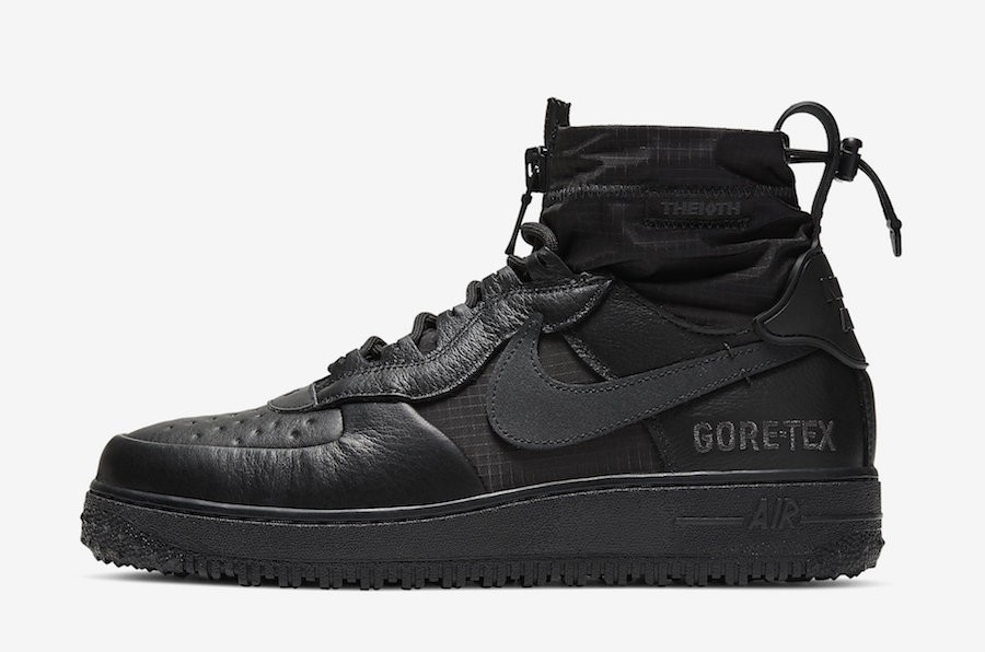 Nike Air Force 1 WTR Gore-Tex (Negras/Negras/Negras) CQ7211-003