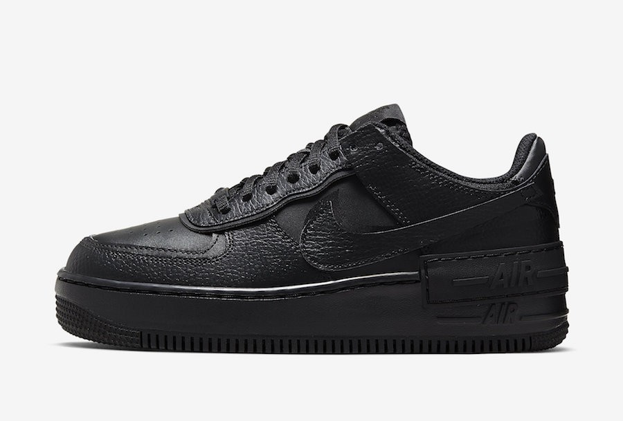 Nike Mujer Air Force 1 Shadow (Negras/Negras/Negras) CI0919-001
