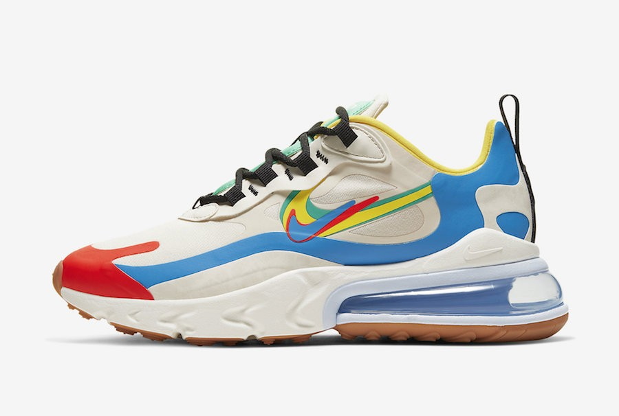 Nike Air Max 270 React (Cream/Azul/Rojas) CT1634-100