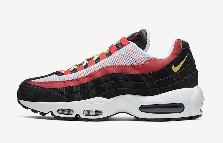 Nike Air Max 95 Essential (Negras/Blancas/Rojas/Amarillas) AT9865-101