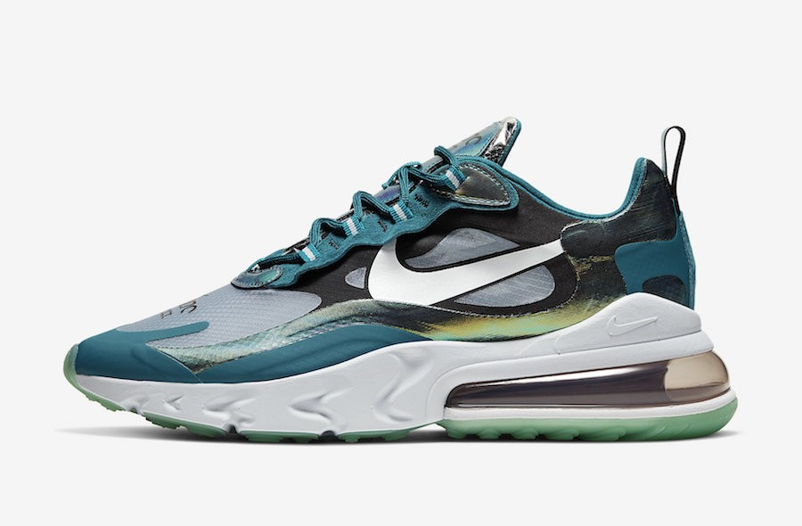 Nike Air Max 270 React (Verde/Blancas) CT2536-300