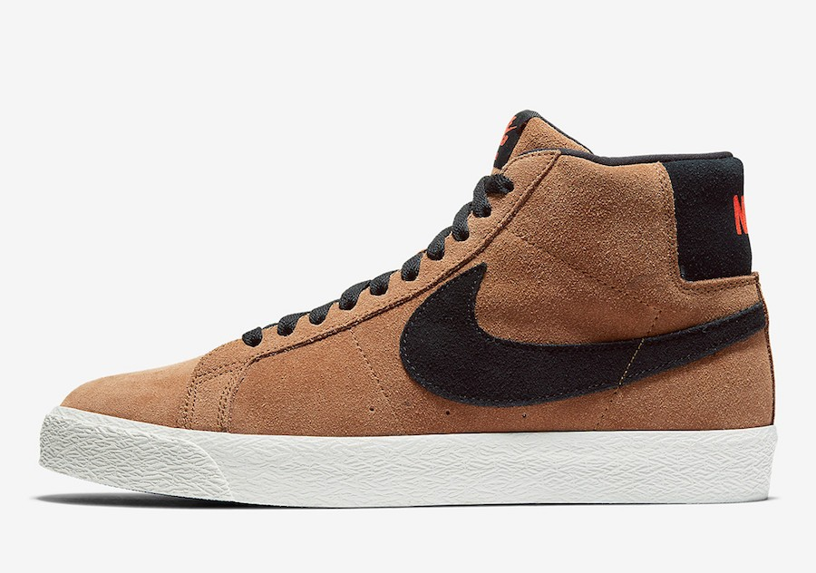 Nike SB Blazer Mid Hombre (Light British Tan/Negras) 864349-202