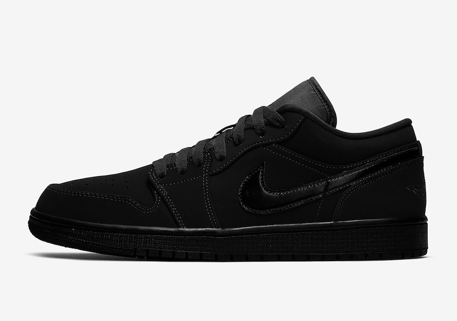 Air Jordan 1 Low (Negras/Negras/Negras) 553558-056