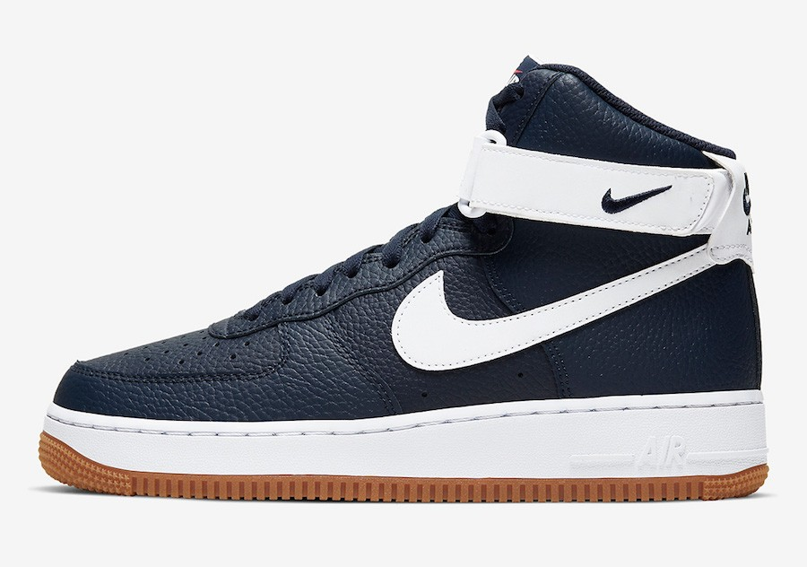 Nike Air Force 1 High (Obsidian/Rojas/Blancas/Blancas) AT7653-400