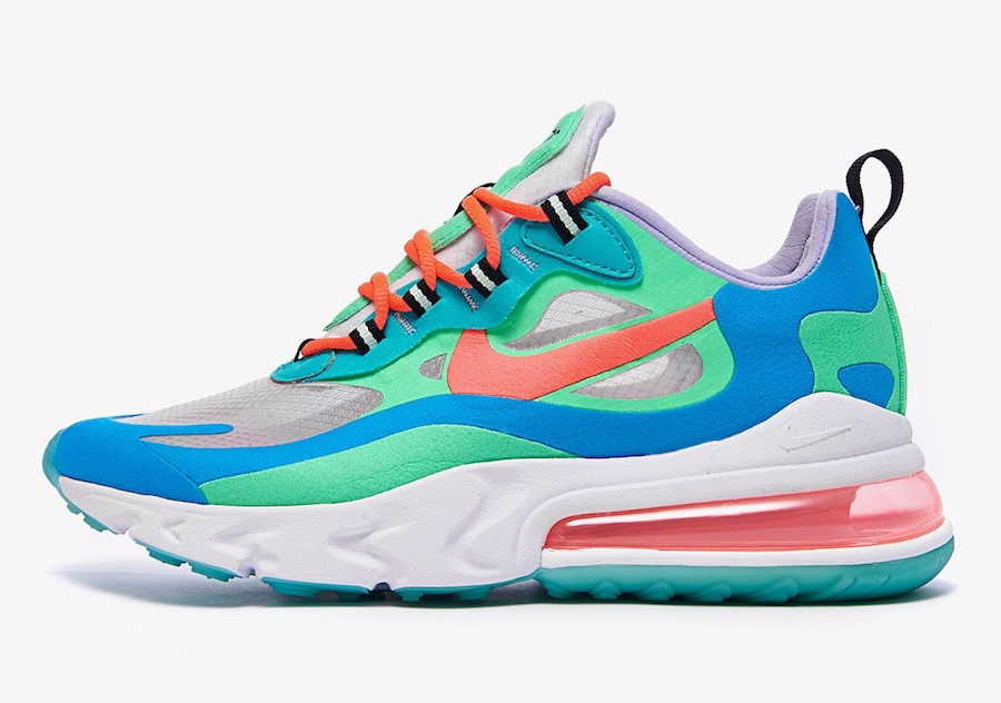 Nike Air Max 270 React Mujer (Verde/Flash Crimson-Azul) AT6174-300