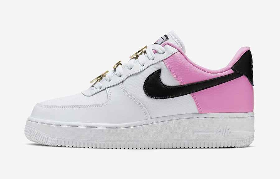 Nike Air Force 1 SE Mujer (Blancas/Negras-Rosas) AA0287-107