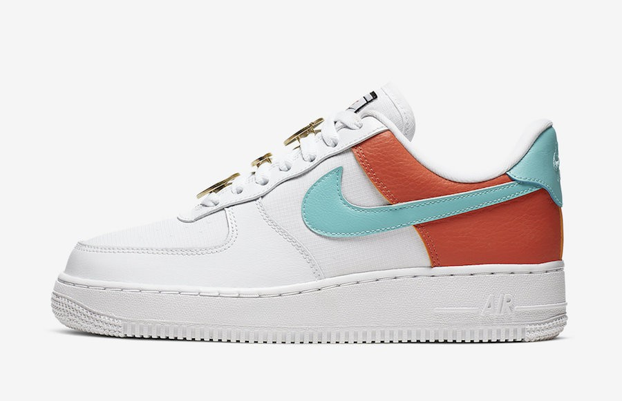 Nike Air Force 1 Low SE (Blancas/Aqua-Cosmic Clay) AA0287-106
