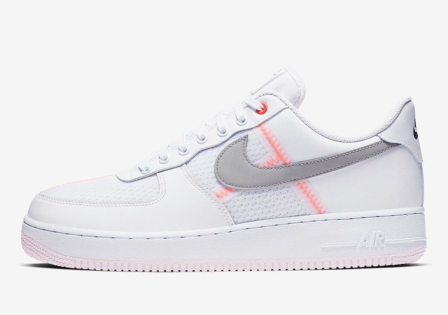 Nike Air Force 1 Low (Blancas/Grises-Naranjas) CI0060-101