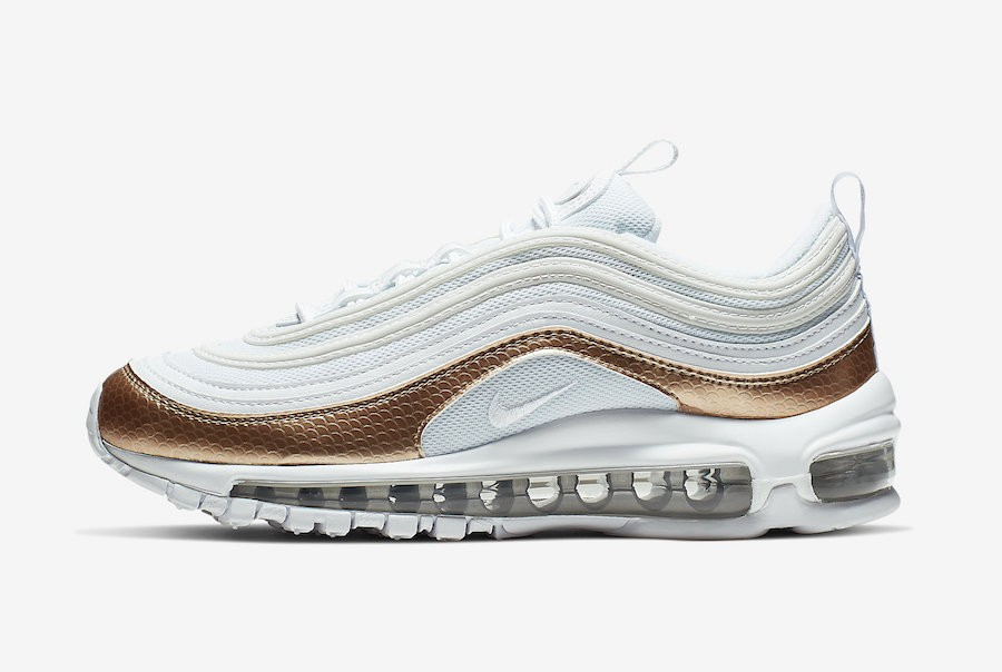 Nike Air Max 97 GS (Blancas/Bronze) BV0049-100