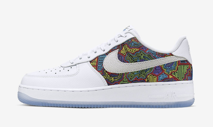 "Nike Air Force 1 Low ""Puerto Rico"" (Blancas/Multi) CJ1620-100"