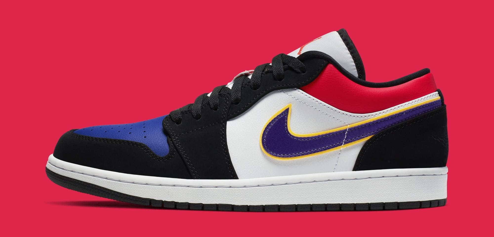Air Jordan 1 Low (Negras/Púrpura-Bright Crimson-Azul) CJ9216-051