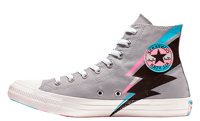 Converse Taylor All Star High Top Pride (Grises/Negras/Azul) 165716C