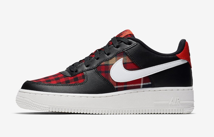 Nike Air Force 1 Low GS (Negras/Blancas/Rojas) 849345-004