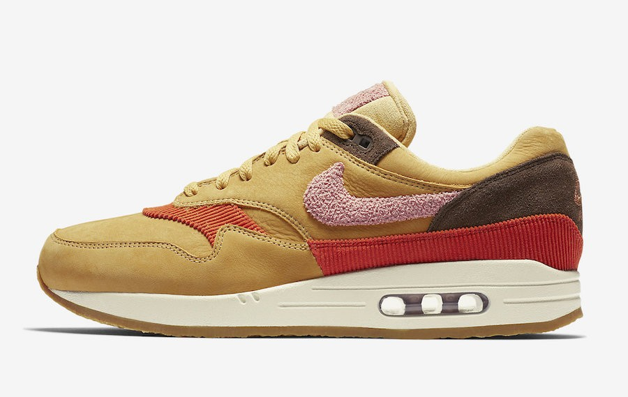 Nike Air Max 1 Premium (Wheat Oro/Rosas/Marrones) CD7861-700
