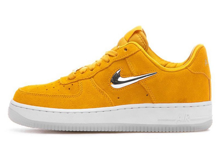Nike Air Force 1 Jewel (Amarillas/Metallic Silver/Blancas) AO3814-700