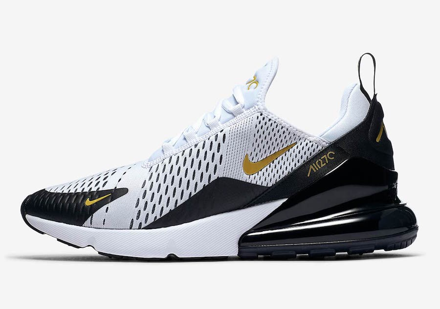 Nike Air Max 270 (Blancas/Metallic Gold/Negras) AV7892-100
