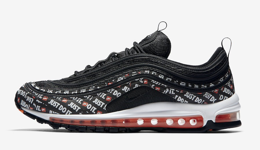 "Nike Air Max 97 ""Just Do It"" (Negras/Naranjas/Blancas) AT8437-001"