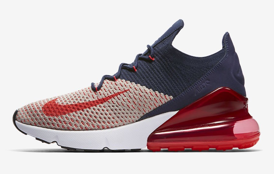 Nike Air Max 270 Flyknit (Moon Particle/Navy/Azul) AH6803-200