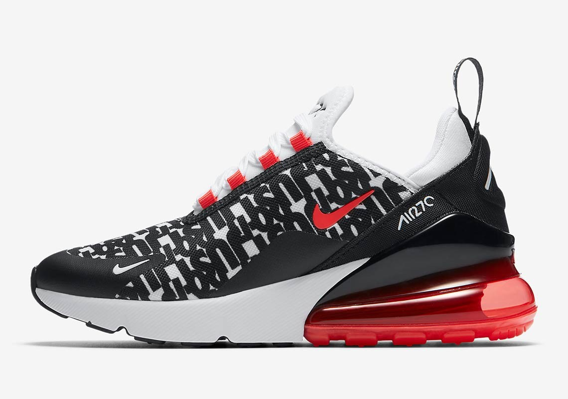 Nike Air Max 270 Just Do It (Negras/Blancas/Bright Crimson) AR0021-001